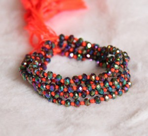 Crystal Beaded Bracelets Orange