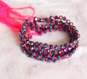 Crystal Beaded Bracelets Pink