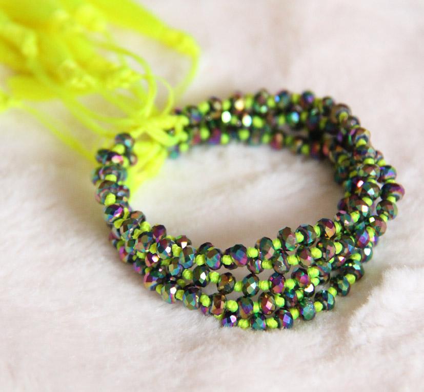 Crystal Beaded Bracelets Yellow