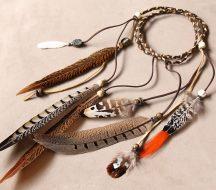 Night Hawk Feather Headband