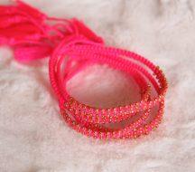 Woven Bracelets Pink Gold