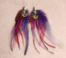 Carnivalé Feather Earrings