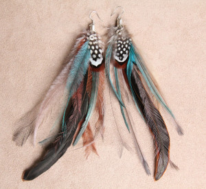 Forest Nymph Feather Earrings