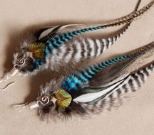 Kingfisher Feather Earrings