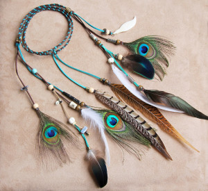 Peacock Feather Headband
